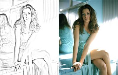 Foto transformada em desenho